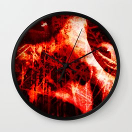 The Scream (In Red) Wall Clock