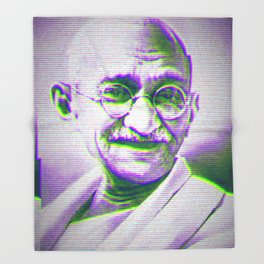 Mahatma Gandhi Throw Blanket