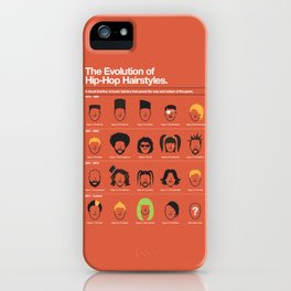 The Evolution Of Hip-Hop Hairstyles iPhone Case