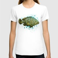 biology T-shirts featuring Goliath Grouper ~ Watercolor by Amber Marine