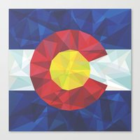 colorado Canvas Prints featuring Colorado by Fimbis
