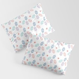 New Year, Christmas design, Red Star and Inverted ⵣ pattern, Tifinagh Pillow Sham