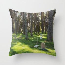 Skogskyrkogården Throw Pillow