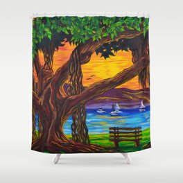 Maui Banyan Bliss Shower Curtain