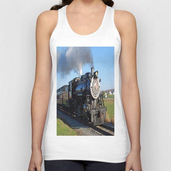 Steam Locomotive Unisex Tank Top
