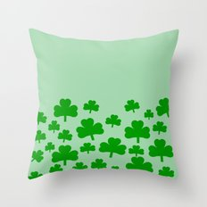 St. Patrick's Day field of Shamrocks Throw Pillow