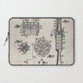 Rocket Ship Patent - Nasa Rocketship Art - Antique Laptop Sleeve