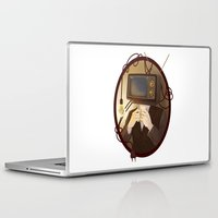 tv Laptop & iPad Skins featuring TELEVISION by FISHNONES