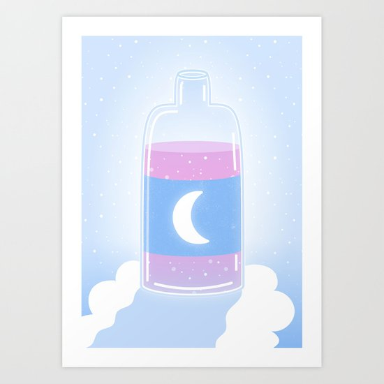 Moon Drink Art Print