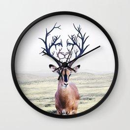 Hidden Lion Wall Clock