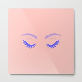 Betty Gone Batty (Millennial Pink Edition) Metal Print