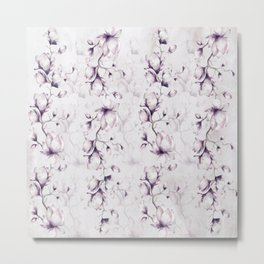 Lovely Mauve Magnolia Blossoms Metal Print