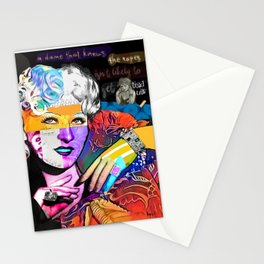 Mae West Collage Art Stationery Cards