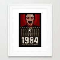 1984 Framed Art Prints featuring 1984 by A.L.  Cook