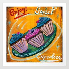 Cuppy Cakes Art Print