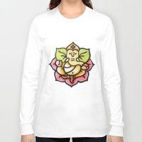 buddah Long Sleeve T-shirts featuring Ganesha  by AmandaSmentkowskiArt
