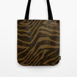 ANIMAL PRINT ZEBRA BROWN CHOCOLATE PATTERN Tote Bag