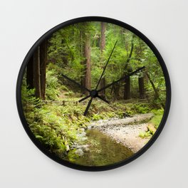 Muir Woods Creek Wall Clock