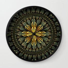 Autumn fantasy flower and petals Wall Clock