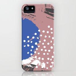 Blue Hydrangea Gypsophila Abstract iPhone Case