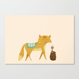 The Fox and the Hedgehog Canvas Print