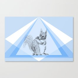 Squirrel stealing nuts Canvas Print