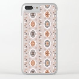 Boho Baby // Middle Eastern Metallic // Nana's Turkish Kilim Carpet in Copper & Gunmetal Gray Clear iPhone Case