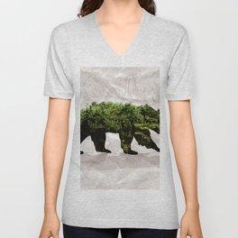 Backt to Nature: Mountain Bear Unisex V-Neck