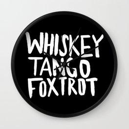 Whiskey Tango Foxtrot x WTF Wall Clock