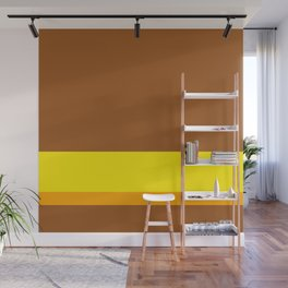 Solid Color Autumn w/ Divider Lines - Illustration Brown Yellow Orange Art Wall Mural