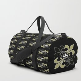 Fleur de lis ...gold, black, white Duffle Bag