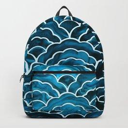Beautiful Batik Style Mermaid Scales Pattern Backpack