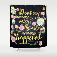 dr seuss Shower Curtains featuring Dr. Seuss - Don't Cry by Evie Seo