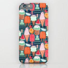 Yum-Summer Ice Cream (Warm) iPhone Case