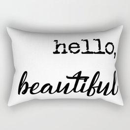 Farmhouse Hello, Beautiful typography Rectangular Pillow
