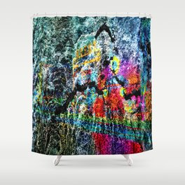 abstract   hj Shower Curtain