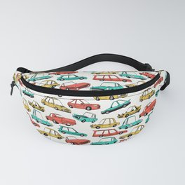 Retro Cars Pattern Fanny Pack