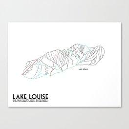 Lake Louise, Canada - Back - Minimalist Winter Trail Art Canvas Print
