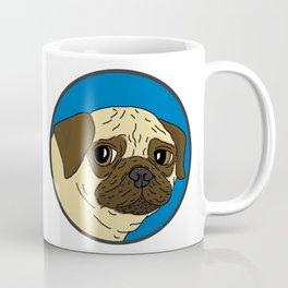 Pug - Blue Spot Coffee Mug