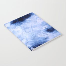 Marbled Water Blue Notebook