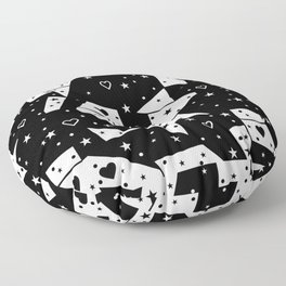 Black and White Popart by Nico Bielow Floor Pillow