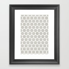 Polka dot Crazy Framed Art Print