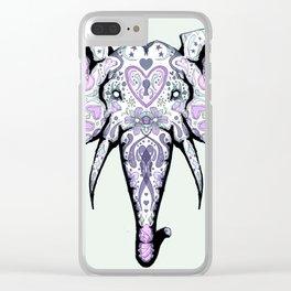 Sugar Skull Elephant Clear iPhone Case