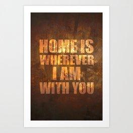 Home Is: Typography Art Print