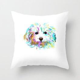 Spalsh Maltipoo Dog Throw Pillow