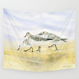 Trio Sandpipers Wall Tapestry