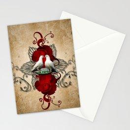 Wonderful dove couple Stationery Cards