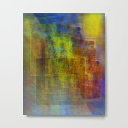 colors in abstract Metal Print