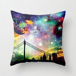 Galaxy Bridge Throw Pillow