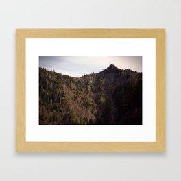Mountain Cleft Framed Art Print